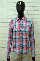 Camicia HOLLISTER Donna Taglia Size XS Maglia Blusa Shirt Woman a Quadri Cotone