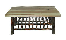Live Edge Rustic Hickory Coffee Table SALE 299.00