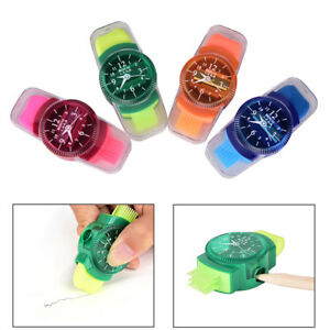 Watches Sliced Pencil Sharpener With Erasers Brush for Office School Suppli^QA