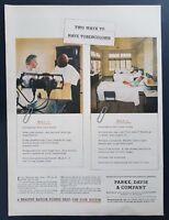 1944 Parke Davis Vintage Print Ad Art Pharmaceutical Tuberculosis Detroit WW2
