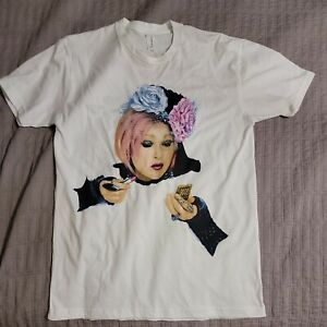 Cyndi Lauper Concert Tour T-shirt 2017 2-sided With Dates Size Medium