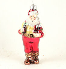 Coca Cola Santa Kurt Adler 5 Inch Glass Christmas Ornament NEW Z03