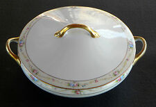 ( ........ ANTIQUE NIPPON ~ NORITAKE MARGUERITE CHINA ~ COVERED VEGETABLE BOWL )