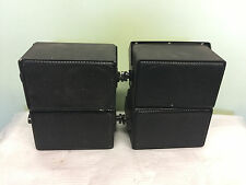 SET of 4 QUAM FM 4x2/70/W SURFACE MOUNT Wired LOUDSPEAKERS 70.7 Volt In/Outdoor