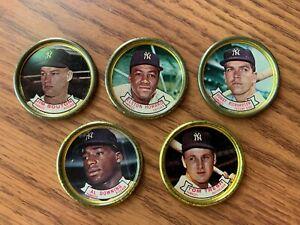 NY Yankees Topps 1964 Coins Richardson, Downing, Bouton, Howard, Tresh