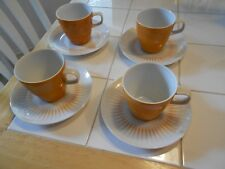 "MIKASA ""ELITE"" FINE CHINA 8 PC. CUP & SAUCER SET-VG+"