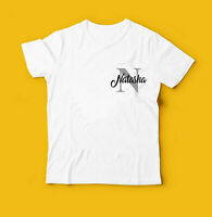 Personalised Name & Initial T-Shirt, Stylish Gift Birthday Kids & Adults Tee Top