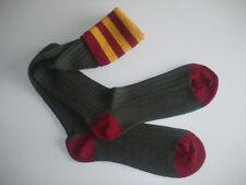 🇬🇧 Striped Shooting/Country Merino Blend Mens Long Socks Green/Red/Gold 8-12