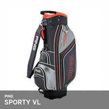 "PING 2018 SPORTY VL Men's Caddie Bag Cart 9.0"" 5-Way 2.5Kg EMS Grey/Orange"