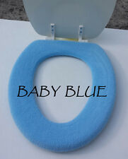 Bathroom Toilet Seat Warmer Cover  Washable - Baby Blue - LifeLong Needs