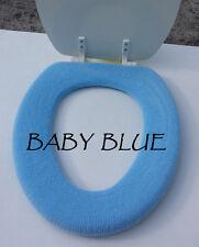 Bathroom Toilet Seat Warmer Cover  Washable - Baby Blue - LifeLong Needs