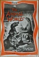 ANIMAL WORLD 1956 ORIG 11X17 NM UNFOLDED & UNCUT PRESSBOOK IRWIN ALLEN