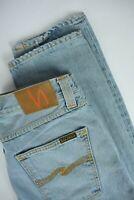 RRP €139 NUDIE STEADY EDDIE SUMMER INDIGO Men's W32/L32 Light Blue Jeans 2778_mm