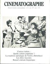 Revue Cinématographe 30 - cinéma italien : Quelle culture populaire ? - sep 1977