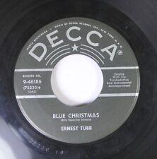 Christmas 45 Ernest Tubb - Blue Christmas / White Christmas On Decca 2