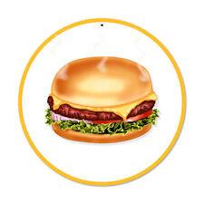 Hamburger American Diner Fast Foot Bistro Werbung Retro Sign Blechschild Schild