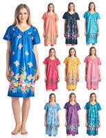 Casual Nights Women's Short Sleeve Muumuu Lounger House Lounge Dress Housecoat