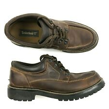 Mens TIMBERLAND Boots Mid Top Moccasin Leather Military Trekker Lace Up 11.5