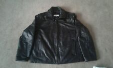 Calvin klein black leather jacket XL