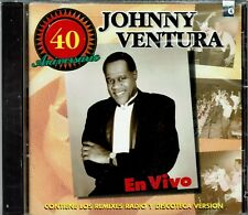 Johnny Ventura 40 Aniversario en Vivo Remixes Radio y  Discoteca  NEW SEALED  CD