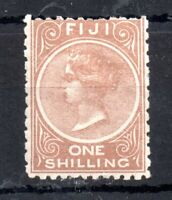 Fiji QV 1894 1/- pale brown mint MH #65 P11 & 10 WS13477