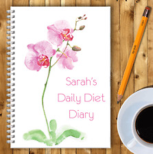 PERSONALISED A5 DIET DIARY, WEIGHT LOSS & FOOD TRACKER, DIETING, SLIMMING LOG 04