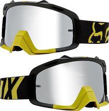 Fox AIRE Space Motocross Mx Gafas PREME - Amarillo Oscuro Plateado Lentes Espejo