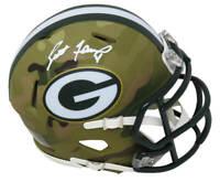 Brett Favre Signed Green Bay Packers CAMO Riddell Speed Mini Helmet (FAVRE HOLO)
