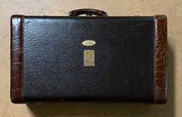 1940s Bach Instruments Leather Aligator Skin Trumpet Case Antique