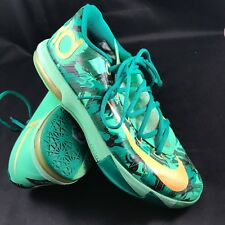 48874cd4385f Nike KD VI 6 Easter Lucid Green Atomic Mango Camo 599424-303 Sz 9.5 vERY