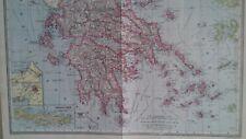 1897   THE  HARMSWORTH  ATLAS GREECE CRETE AND THE ARCHIPELAGO ORIGINAL ANTIQUE