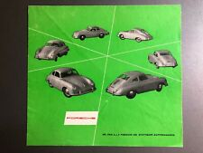 """1954 Porsche 356A """"Its our hobby """" Folder / Brochure / Prospekt RARE Green"""