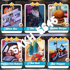 Route 66 Full Set :- Coin Master Cards ( Fastest Delivery ) Hot Rod, Bar Hopper