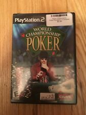WORLD CHAMPIONSHIP POKER - PS2 - COMPLETE W/MANUAL - FREE S/H (N)