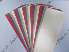 20 x Mixed Pearlescent Shimmer Paper Strips 294x80mm 90gsm 1-Sided AM741