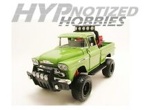 MOTOR MAX 1:24 OFF ROAD 1958 CHEVROLET APACHE  PICKUP DIE-CAST GREEN  79135