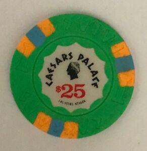 Caesars Palace Las Vegas $25 Casino Chip Obsolete Old