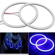 60mm Blue LED COB Angel Eye Fog Lamp Halo Ring Head Light DRL For Car/Bike
