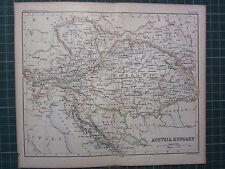 1887 ANTIQUE MAP ~ AUSTRIA-HUNGARY BOSNIA VIENNA TRANSYLVANIA GALICIA