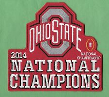 "New Ohio State Buckeyes 2014 Champions 6 1/2 X 6 "" Iron on Patch Free Shipping"