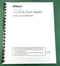 Nikon CoolPix B600 Instruction Manual: 201 Pages & Protective Covers