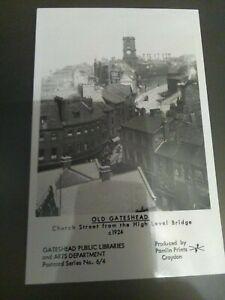 OLD GATESHEAD from HIGH LEVEL BRIDGE 1924  Postcard by Pamlin Prints  Series 6/4