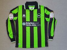 Authentic Brighton & Hove Albion 2011/12 Away Errea Long Sleeve Jersey - Size S