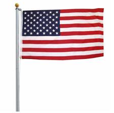 Old Glory Flagpole Deluxe 20 Feet Flagpole Aluminum 3' x 5' Polyester Flag