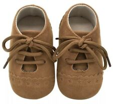 Smart Baby Boy Soft Sole Leather First Walkers Crib Shoes 3-6 Months Brogues