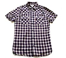 Mens Vintage Levi's Western Style Cotton Check Shirt Retro Small 36 Chest