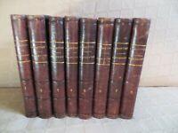 histoire de la restauration Lamartine 8 volumes reliés 1856-1858
