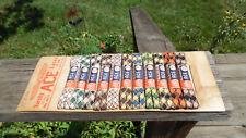 RARE Vintage 1940's Ace bobbysox Shoe Lace Store Display Advertising