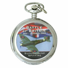 Spitfire Battle of Britain Pocket Watch Inc Chain Boxed Great Gift Idea