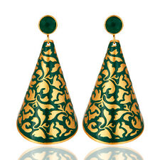 18k Gold Plated Handmade Unique Designer Earrings Wedding Fashion Jewelry